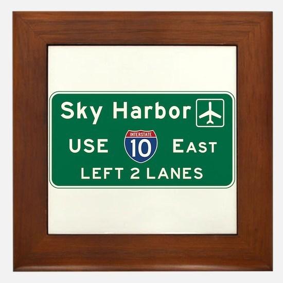 Sky Harbor, Phoenix Airport, AZ Road S Framed Tile