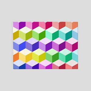 Cube Lg Ptn Multicolored 5'x7'Area Rug