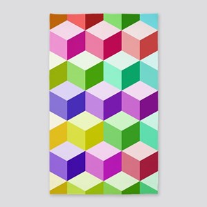 Cube Big Ptn Multicolored Area Rug
