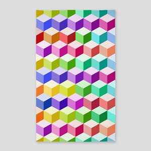 Cube Repeat Ptn Multicolored Area Rug
