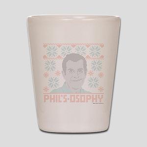 modern family phil's-osophy ugly Shot Glass