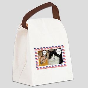 Animal Politics Humor Canvas Lunch Bag