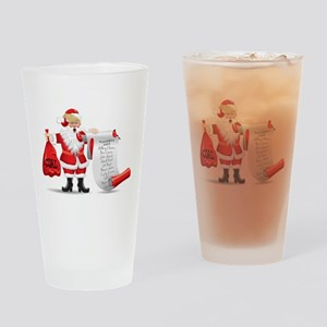 Funny SANTA TRUMP Drinking Glass