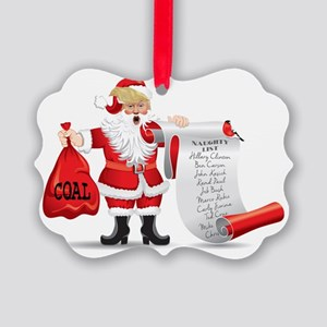 Funny SANTA TRUMP Picture Ornament