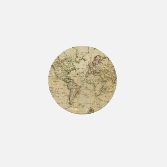 Cute Vintage map Mini Button