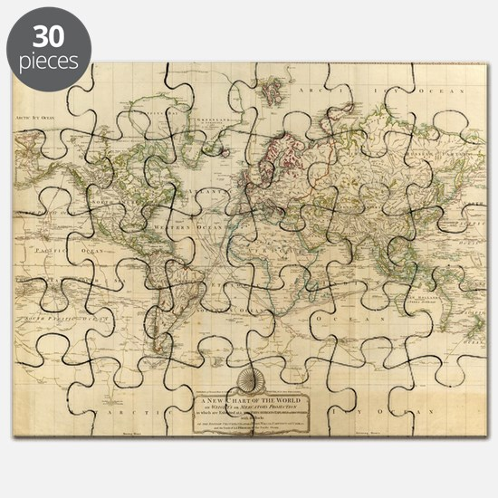 Antique world map puzzles antique world map jigsaw puzzle templates cute antique world map puzzle gumiabroncs Images