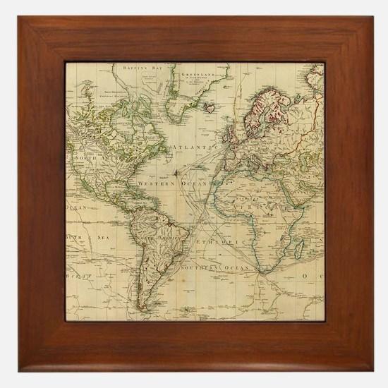 Funny World Framed Tile