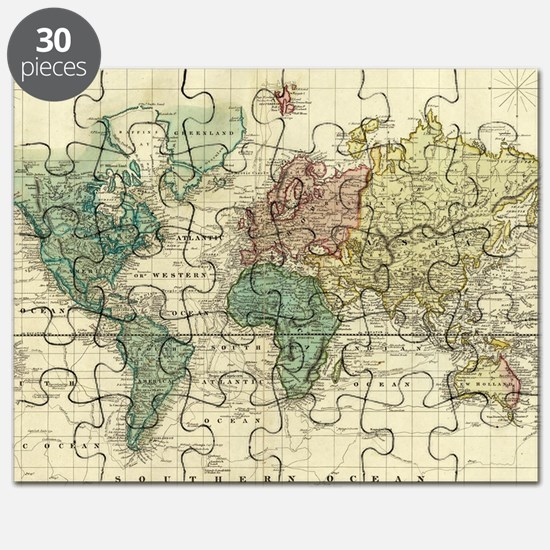 Old world map puzzles old world map jigsaw puzzle templates funny old world map puzzle gumiabroncs Image collections