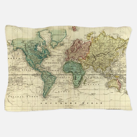 Old map Pillow Case