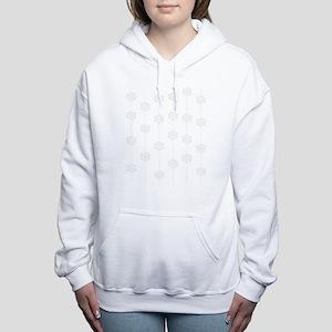 Strings of snowflakes Women's Hooded Sweatshirt