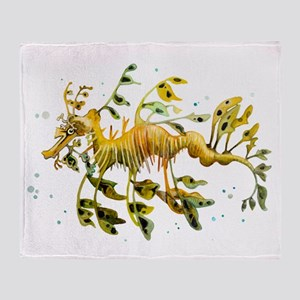 Leafy Sea Dragon Throw Blanket