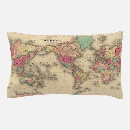 Cool World map Pillow Case