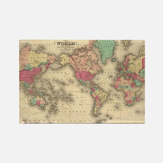 Cool World map Rectangle Magnet