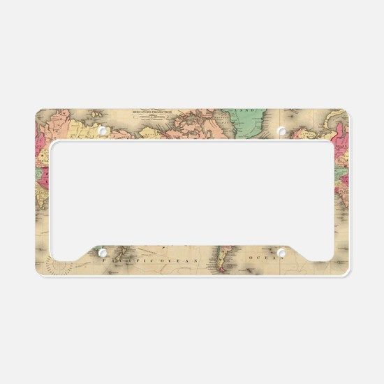 Cute Map License Plate Holder