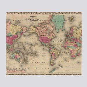 Old world map blankets cafepress throw blanket throw blanket 3995 5499 voyage compass vintage world map gumiabroncs Gallery