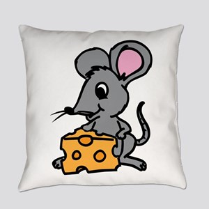 Mouse And Cheese Everyday Pillow