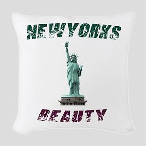 Newyork's Beauty Woven Throw Pillow