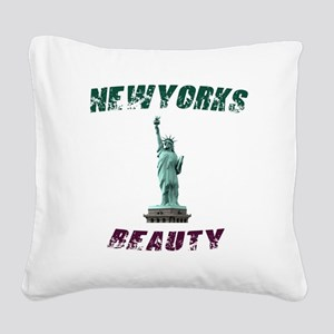 Newyork's Beauty Square Canvas Pillow