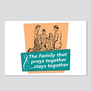 Family That Prays Togethe Postcards (Package of 8)