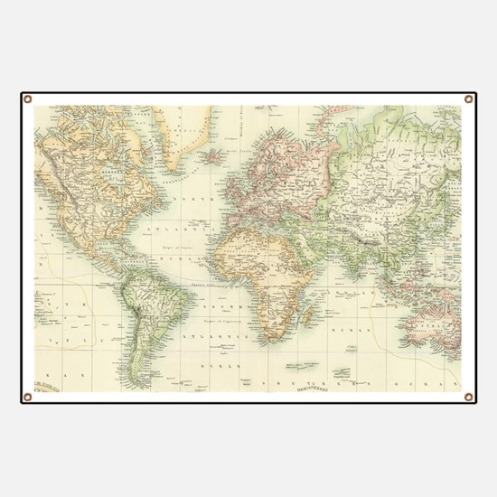 Funny World map Banner