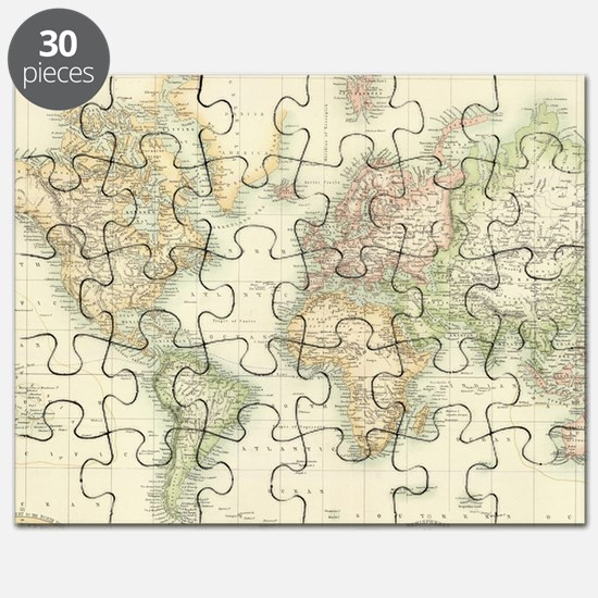 Old world map puzzles old world map jigsaw puzzle templates unique old world map puzzle sciox Images
