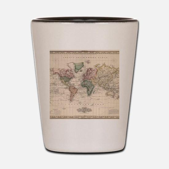 Cool Antique world map Shot Glass
