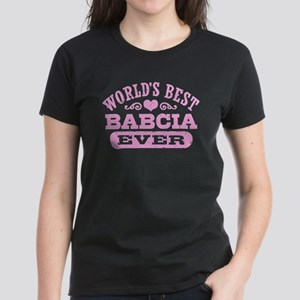 World's Best Babcia Ever Women's Dark T-Shirt