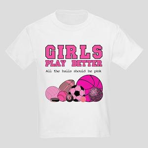 Girls Play Kids Light T-Shirt