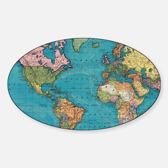 Cool Map Sticker (Oval)