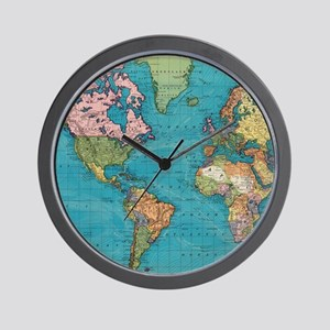World map wall clocks cafepress wall clock gumiabroncs Images