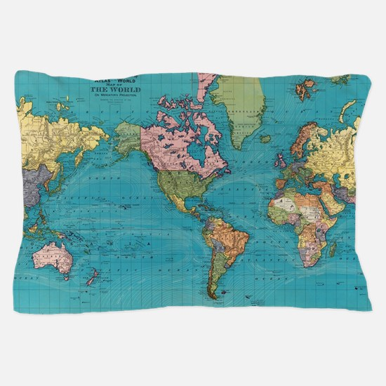 Funny World map Pillow Case