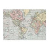 World map 5x7 Rugs