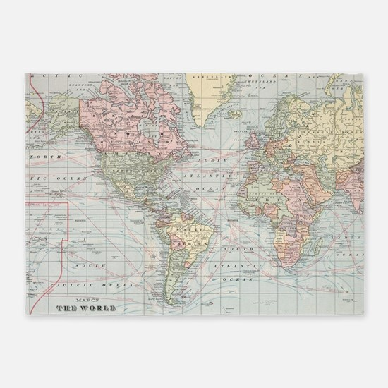 World map gifts merchandise world map gift ideas apparel 5x7area rug gumiabroncs Image collections