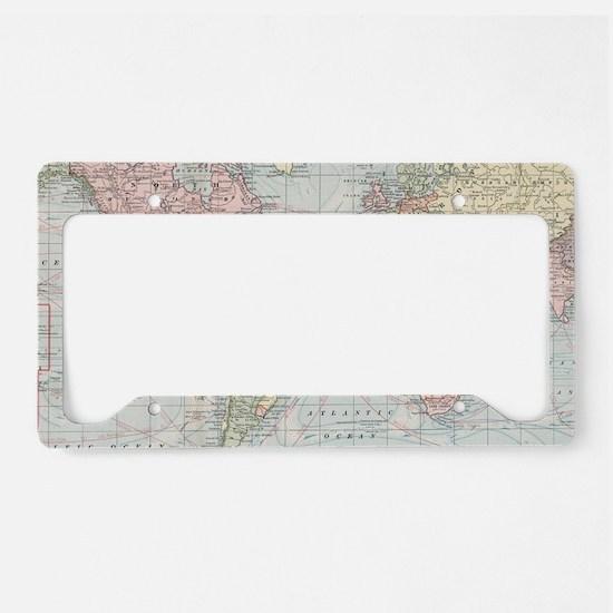 Unique Map License Plate Holder