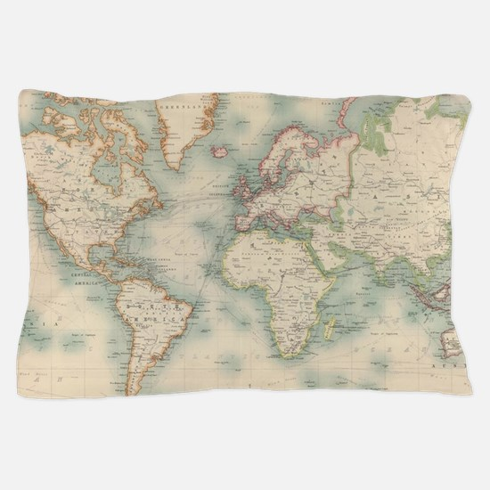 Cool Old map Pillow Case