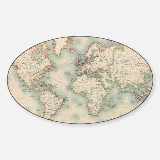 Cute Old world Sticker (Oval)