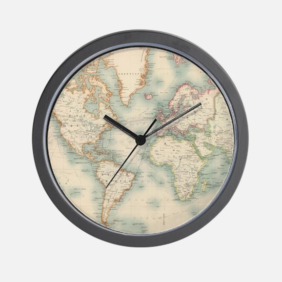 Buy World Map Clock. Unique World map Wall Clock Map Clocks  Large Modern Kitchen