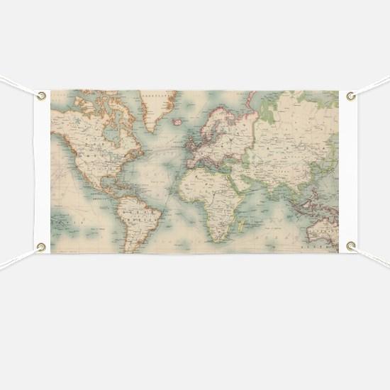 Cute World map Banner