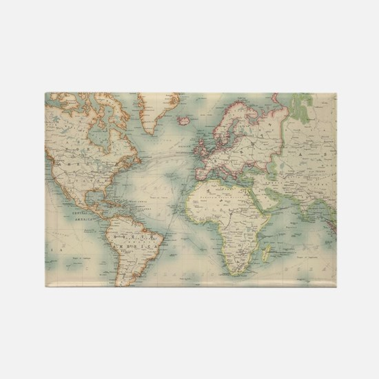 Funny World map Rectangle Magnet