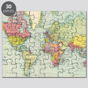 Old world map puzzles cafepress puzzles puzzle puzzle 1295 1699 vintage map puzzle gumiabroncs