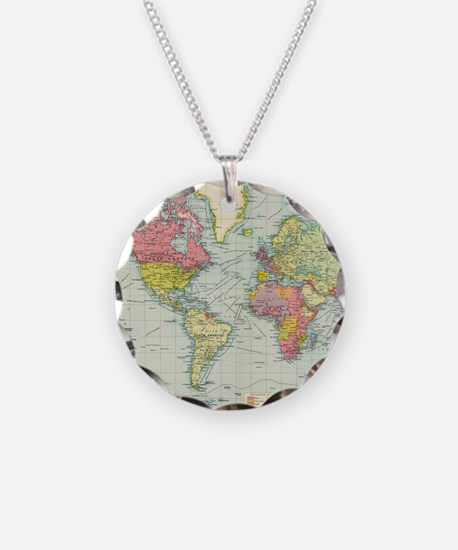 Cute Geography Necklace