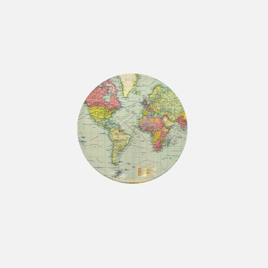 Funny Vintage map Mini Button