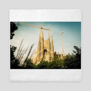 The Sagrada Familia temple with Catalo Queen Duvet