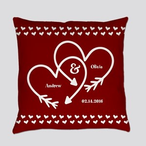 Personalized Names Wedding Gift Re Everyday Pillow