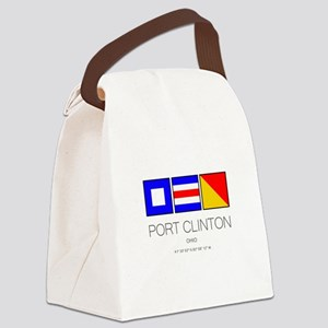 Port Clinton Nautical Flag Art Canvas Lunch Bag