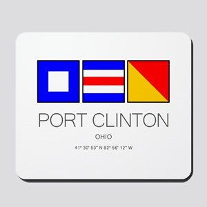 Port Clinton Nautical Flag Art Mousepad