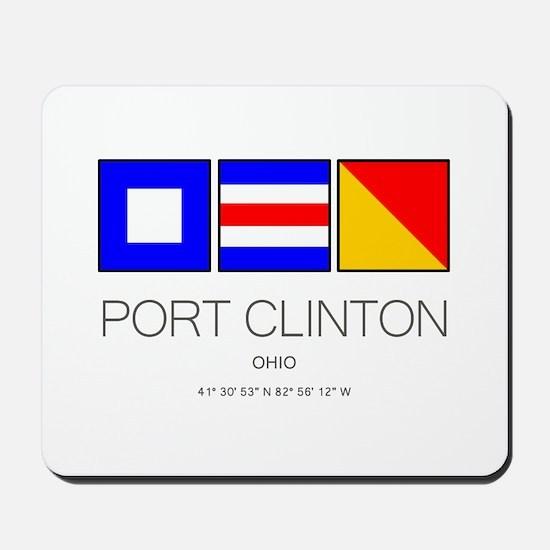 Port Clinton Nautical Flag Art Mousepad