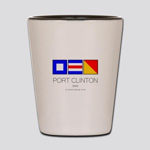 Port Clinton Nautical Flag Art Shot Glass