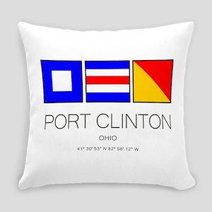 Port Clinton Nautical Flag Art Everyday Pillow