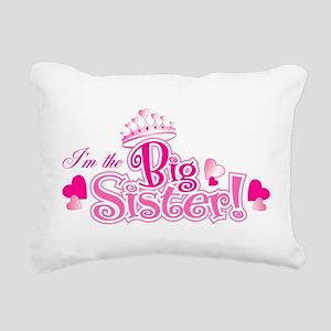 Curly Im The Big Sister Rectangular Canvas Pillow